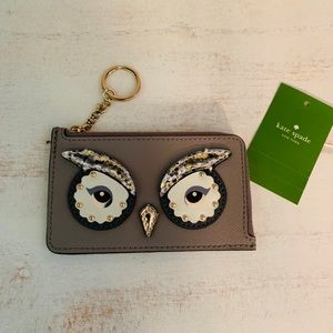 Kate Spade owl card and change holder